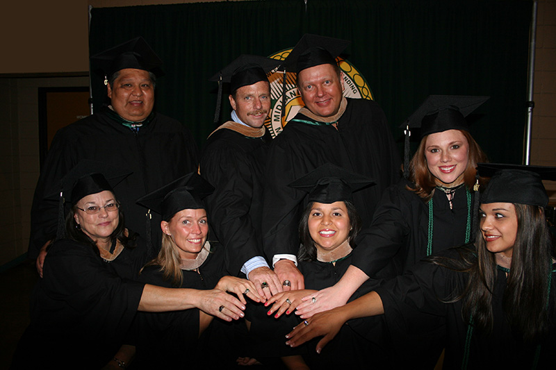 Members of MC's first Baccalaureate of Applied Technology graduating class