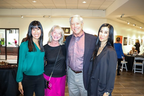 Reception guests with Lisa and Laura Ling