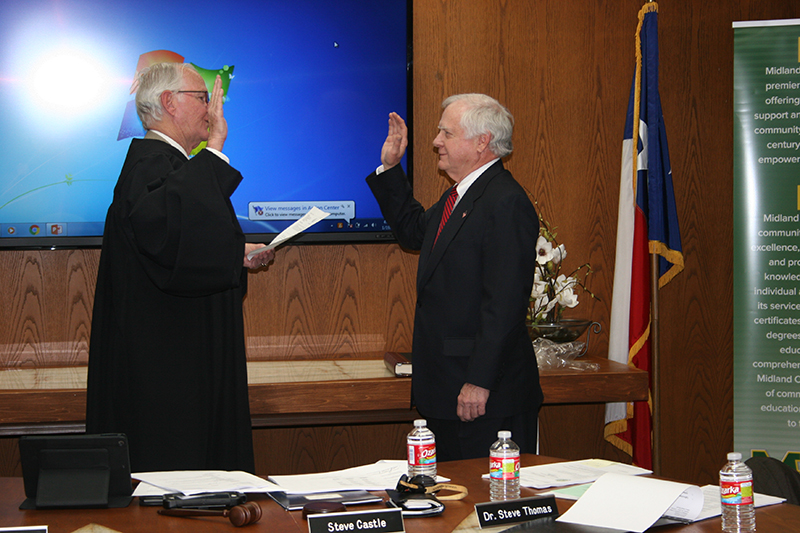 Oath of Office administered to Paul L. Morris