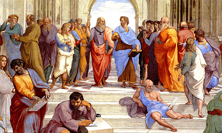 """School of Athens"" painting by Raphael"