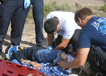 EMS Students in 'Rural Rescue' Field Exercise