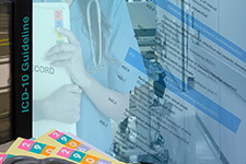 Health Information Management professional reviewing medical file with doctor