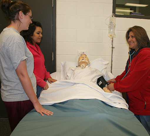 LVN Studies Include Work with Manikins at MC SimLife Center
