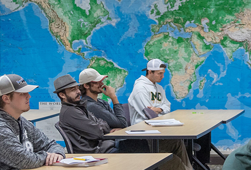 Geography/Global Studies students in the classroom