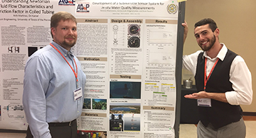 Nicholas Mastroianna's award-winning research poster on MC Engineering Club's sensor system project.