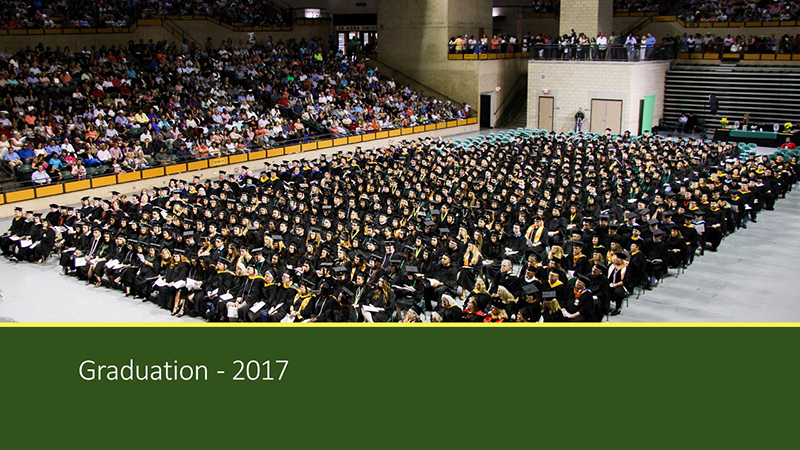 The image to use for this article. Listing image managed through RSS tab. MC Commencement Ceremony, May 2017