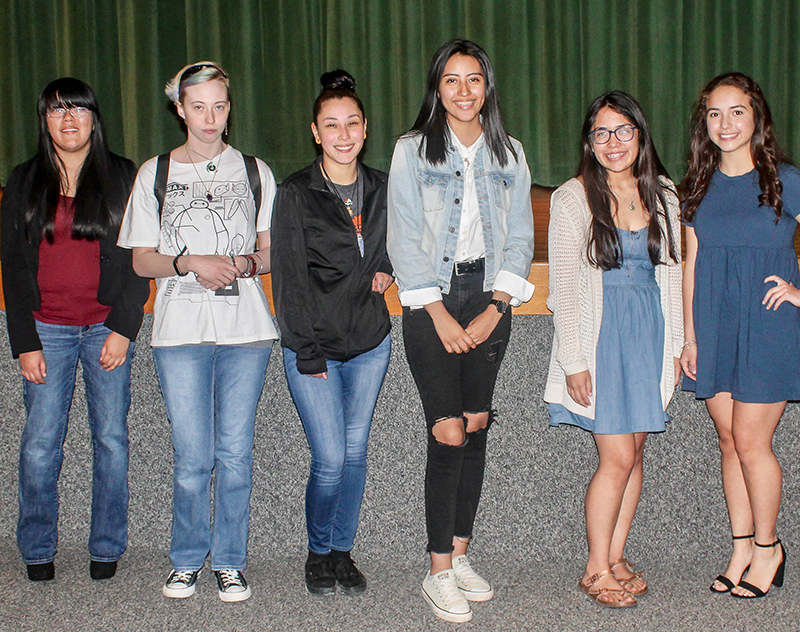 The image to use for this article. Listing image managed through RSS tab. Hilda Simmons Levitt Poetry Contest winners from left to right:  Shaquila Sarapao, Bailey Heady, Desiree Esparza, Alondra Morales, Isabella Nieto and Karla Fernandez.