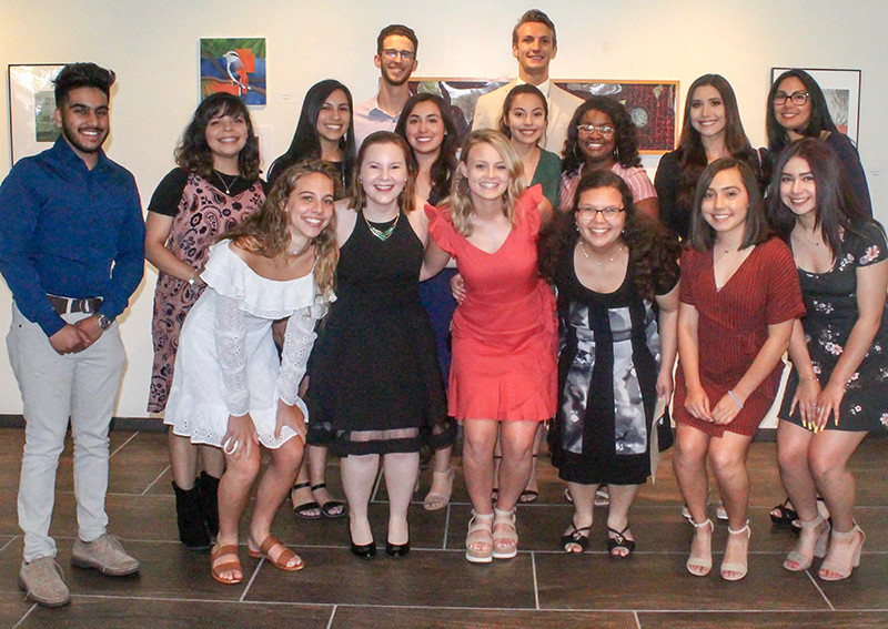 The image to use for this article. Listing image managed through RSS tab. Midland College 2018-2019 SIP members.  Front row, pictured left to right:  Jordan Williams, Tatum Dotson, Reagan Fincher, Mariana Erazo, Evelynn S. Villarreal and Idali Anchondo; second row, pictured left to right:  Affan Ahmed, Krista Ceballos, Crystal Rodriguez, Samantha Napoles, Melody Barraza, Kaizjanae Spencer, Hayley Jones and Midland College SIP Coordinator Luz A. Lopez; back row pictured left to right Lawson Bell and Jacob Edwards