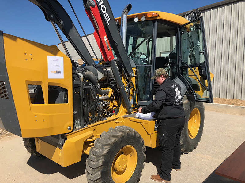 The image to use for this article. Listing image managed through RSS tab. MC Diesel Technology Student Doug Brodie performing pre-delivery inspection (PDI) drill during Diesel Technology the 2019 regional SKILLS USA contest on February 21 at Yellow House Machinery in Midland