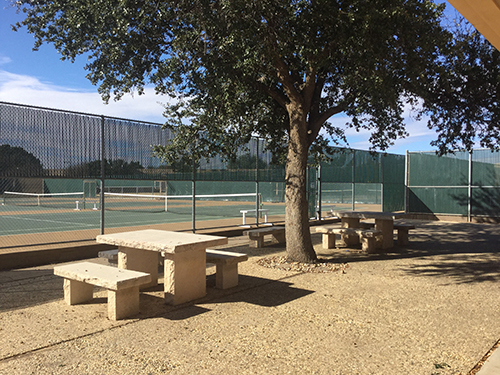 MC Tennis Center, Seating and Picnic Area